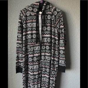 COPY - PINK christmas pajamas one piece onesie Me…